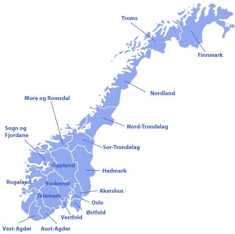 Norge Mode Kort